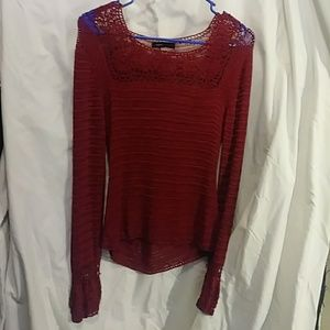 BCBG embroidered lace top